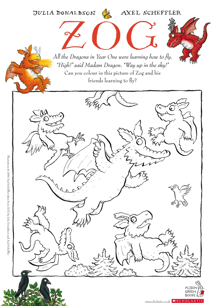 zog colouring sheet gruffalo pinterest fun home and colouring sheets. Black Bedroom Furniture Sets. Home Design Ideas