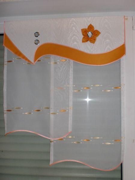 Orange Gardine von Marillius auf DaWanda.com