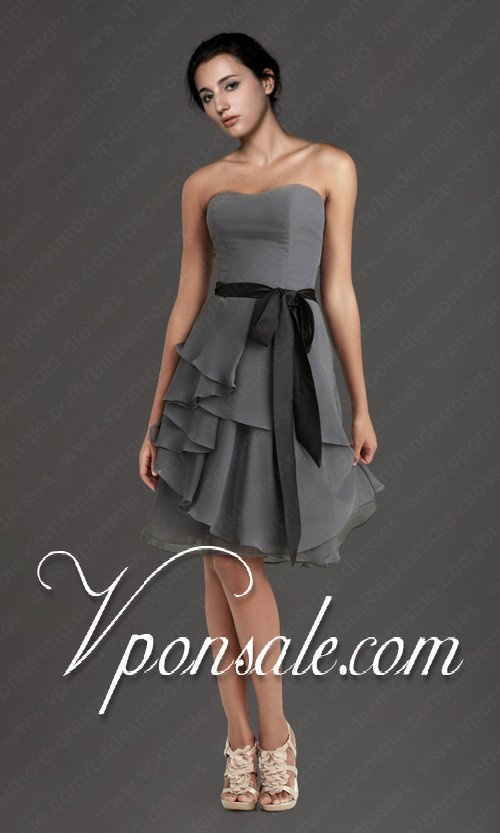 grey bridesmaid dresses Like but in a different color