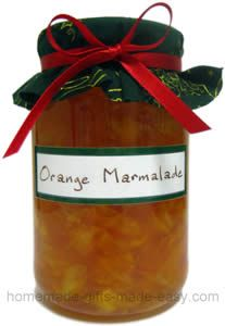 Easy Orange Marmalade recipe from Homemade Gifts Made Easy.  This looks super easy since you make it in the MICROWAVE!!!  Oh yeah, I'm gonna try this one.