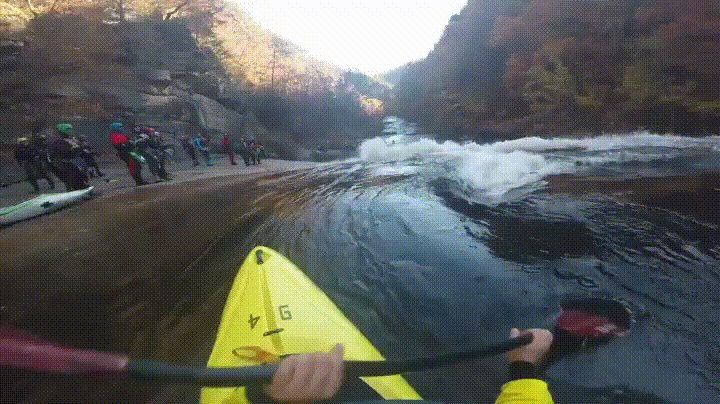 Kayaking down a river - GIF on Imgur