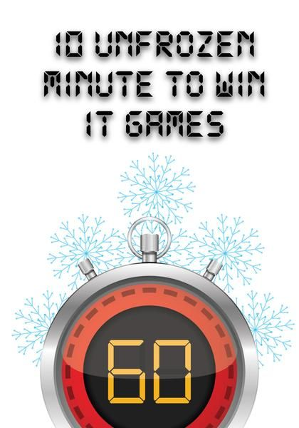 Unfrozen themed Minute to Win It Games - Use these games with our Unfrozen 4-Week Christmas Children's Ministry Curriculum this Christmas.