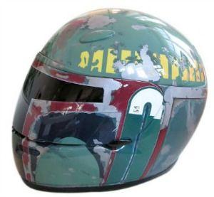 boba fett airbrushed motorcycle helmet