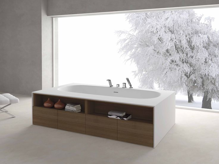 Baignoire ilot loft 2 baignoire lot ovale x cm composite for Baignoire ilot carre