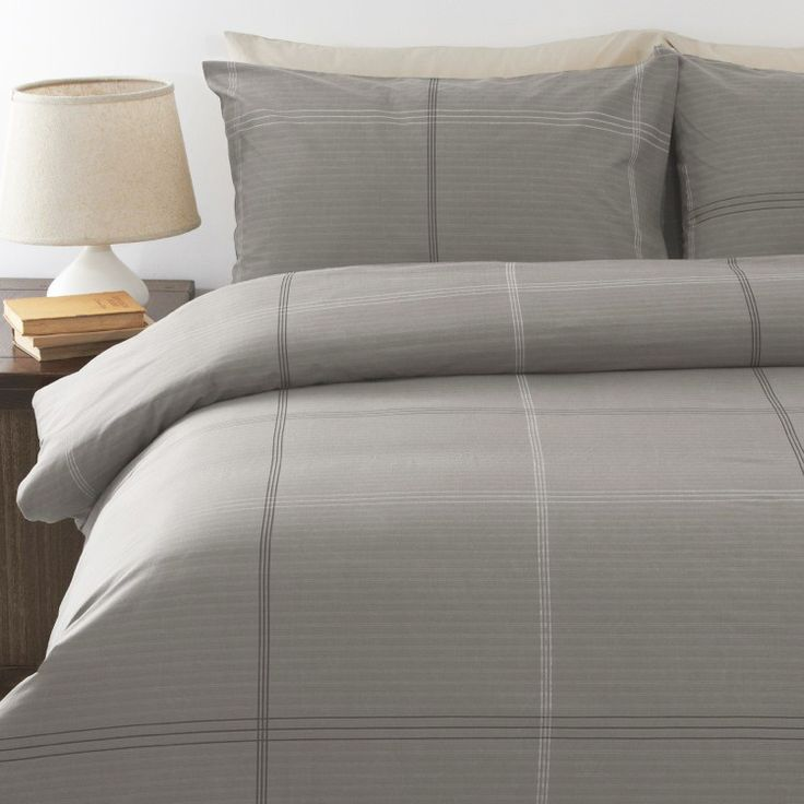 Bentley Grey Quilt Cover Set by In 2 Linen | Linen Room