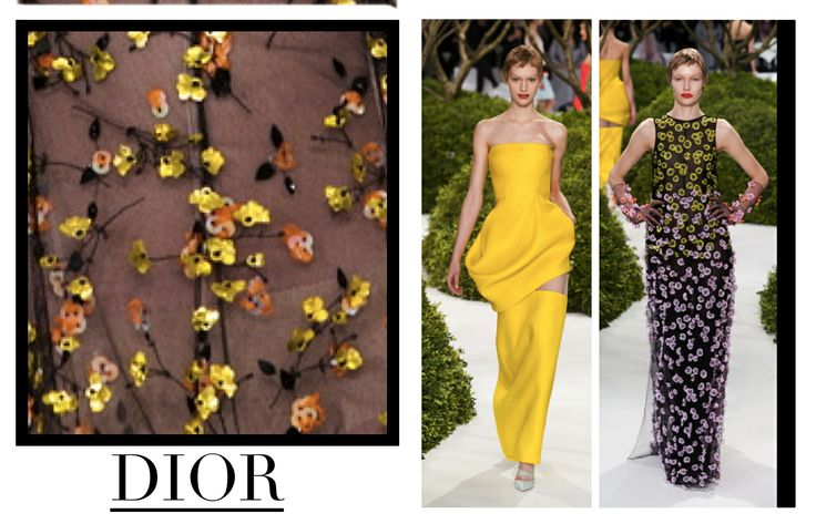 Focus on Dior in Paris chapter. The Dior's enchanted garden. #Dior #HauteCouture #catwalks #fashion #woman #style #clothes #dress #look