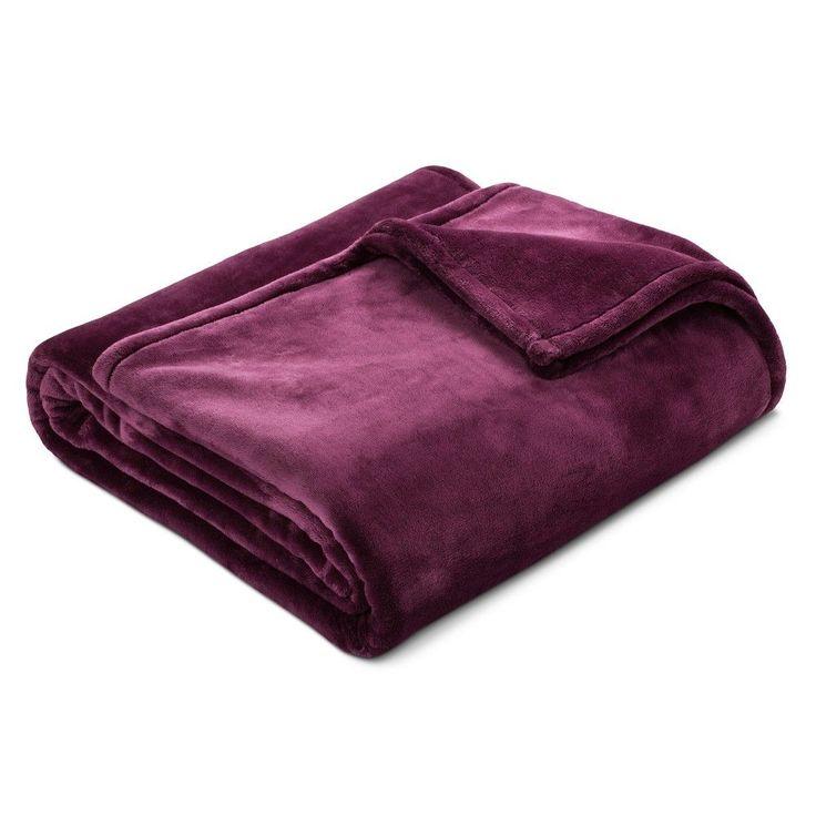 Microplush Bed Blanket (Full/Queen) Embassy Purple - Threshold