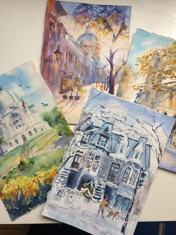 4 Watercolour paintings are going to New York