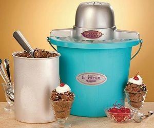 Electric Ice Cream Maker- http://www.awesomeinventions.com/shop/electric-ice-cream-maker/
