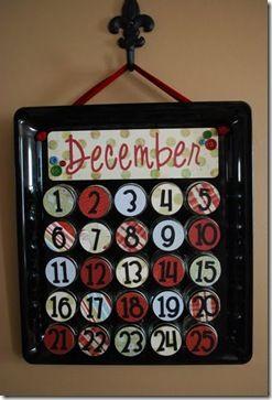 Advent calendar using baby food jars