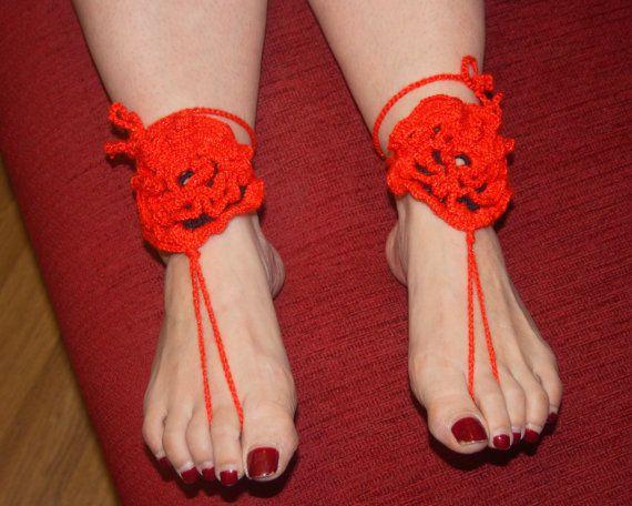 Вязание крючком сандалии босоножки  сексуальные от LoveKnittings