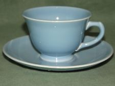 Taylor Smith Taylor*Lu-Ray Pastel*Blue Tea Cup and Saucer