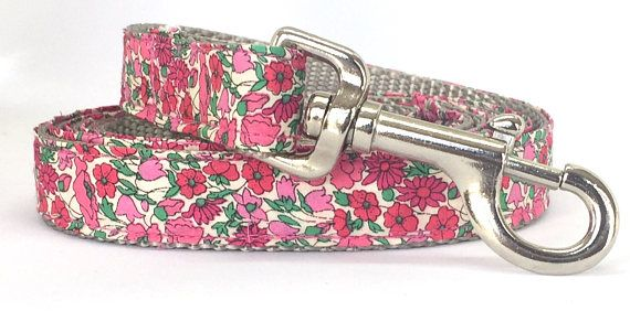 Liberty of London 'Bud and Petal' Pink Floral Leash. Beautiful!