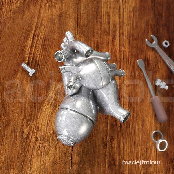 Artificial metal heart on Behance