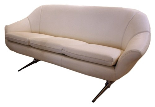 Overman 1970s sofa in white leather - $1895.: Overman 1970S, V M Seats, White Leather, 1970S Sofas, Plans 70S