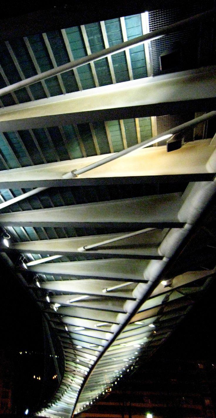 Estructura inferior del puente Zubizuri