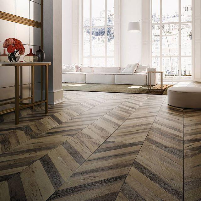#chevron By #refin #chevrontiles #porcelaintiles #floortiles #woodlooktile  #woodeffecttile #