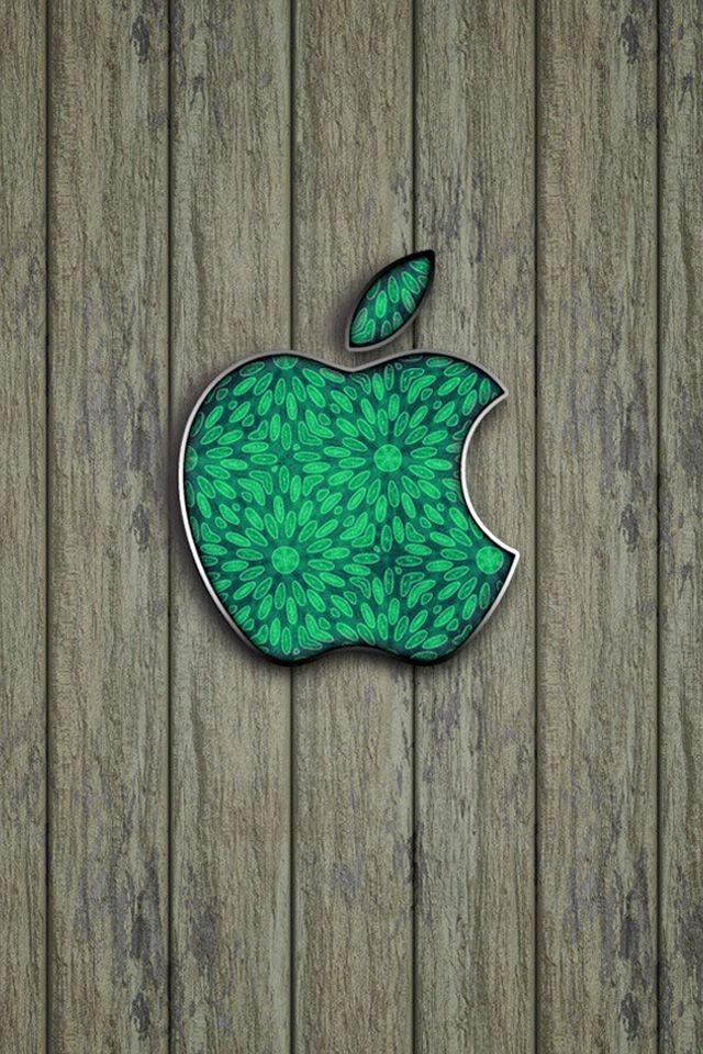 Cool Wallpapers For Iphone : Green Apple Logo Cool Wallpapers For Iphone 4