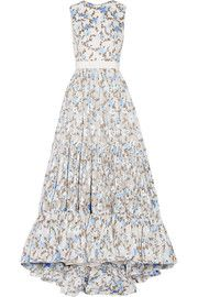 Floral-jacquard gown