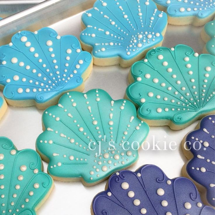 (1) CJ's Cookie Co. - Sneak peek of these pretty shells for Hot Mama's...