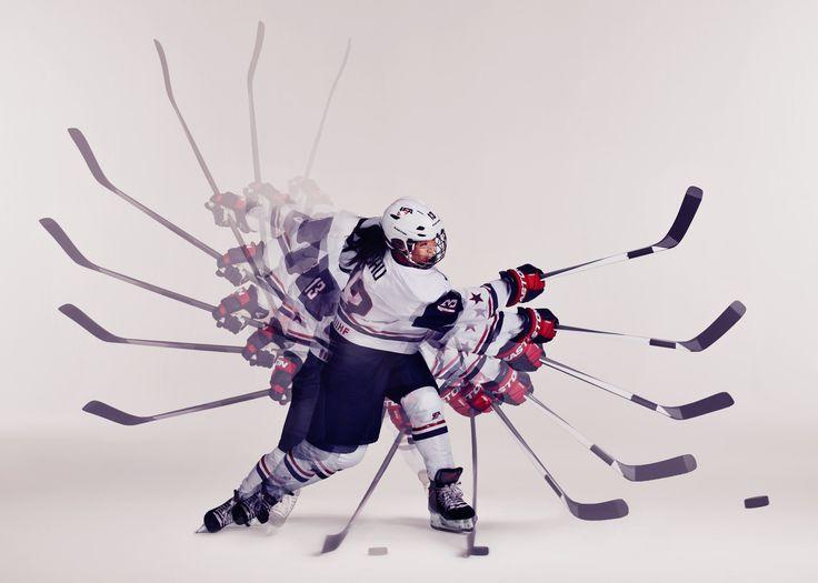 Julie Chu of USA Women's Hockey showing off her shot