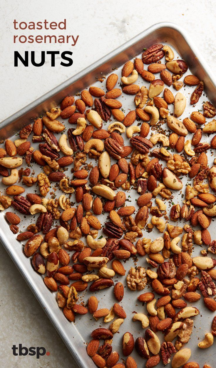 Flavored nuts are one of those snacks that make any party feel instantly classier. And why pay extra when they're so simple to DIY? Just toast your favorite nuts with a little butter, rosemary and a touch of ground red pepper, and you'll have the perfect appetizer/dinner party snack ready in no time. (They make great gifts, too.)