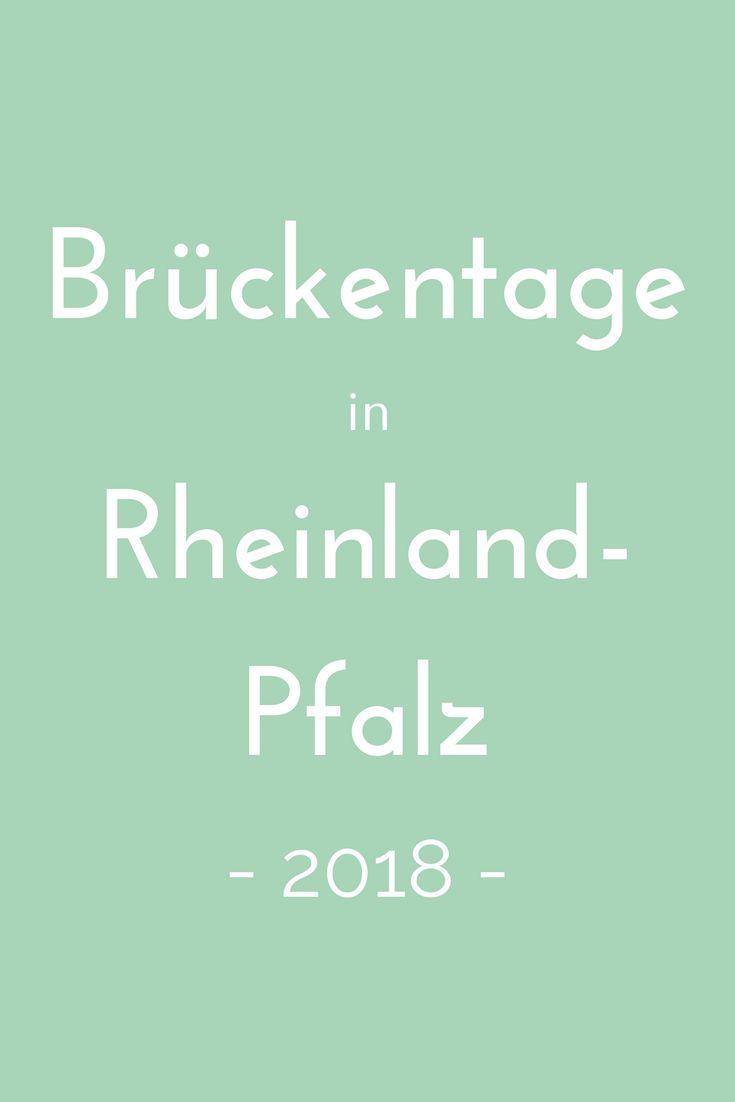 Brückentage nutzen, um ein paar Tage länger frei zu haben? Wie das geht, verrät der Brückentagekalender 2018 für Rheinland-Pfalz