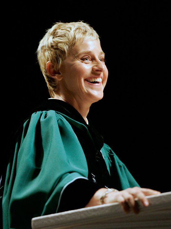 12 Inspiring Graduation Speeches by Amazing Women including one by Ellen Degeneres to Tulane University following Hurricane Katrina in New Orleans (2009).