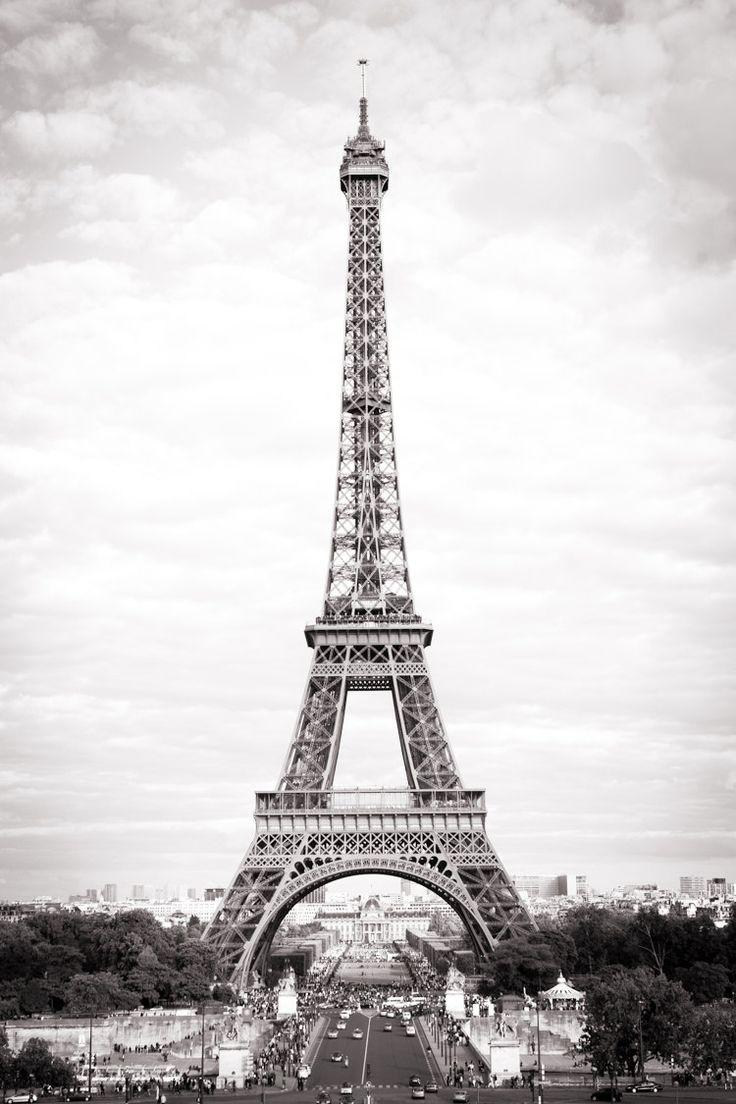 Paris Fine Art Photograph - The Eiffel Tower, Black and ...