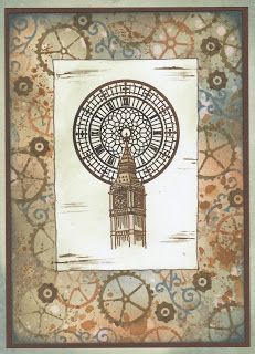 Cards, Cats and Coffee: Cogs, Clocks and Flowers