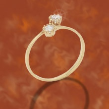 """""""Sugar & Spice""""  $39.99 CAD - This adorable ring is perfect as a pinky ring or for a little girl. It features 2 round triple A cubic zirconias on top of a thin band finished in rich rhodium (SILVER FINISH ONLY AVAILABLE). Nickel and lead free.  Size 5"""