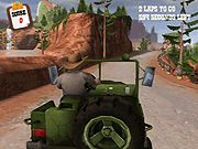 Jeep de safari de condus pe drumuri de munte