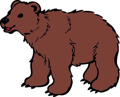 Zwierząt, Niedźwiedź, Brown, Cub