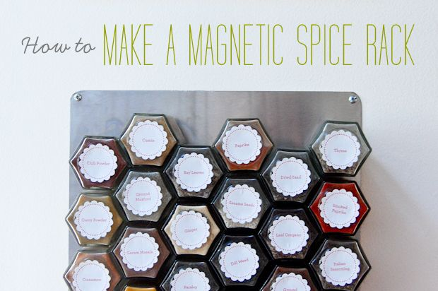 DIY spice rack organization for small spaces