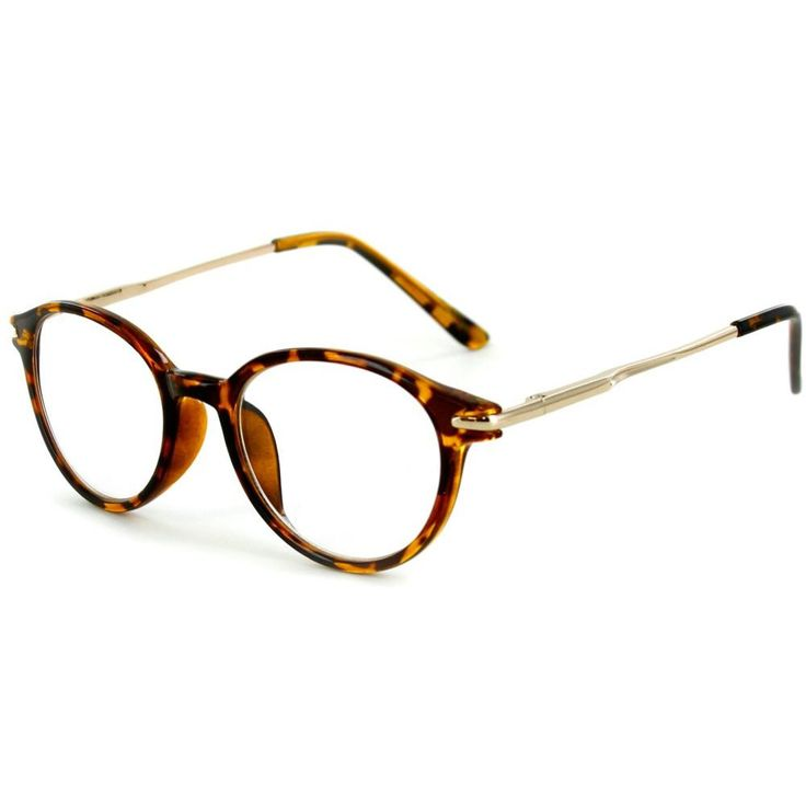 """Tiburon"" Round Wayfarer Reading Glasses with Metal Temples for Men and Women"