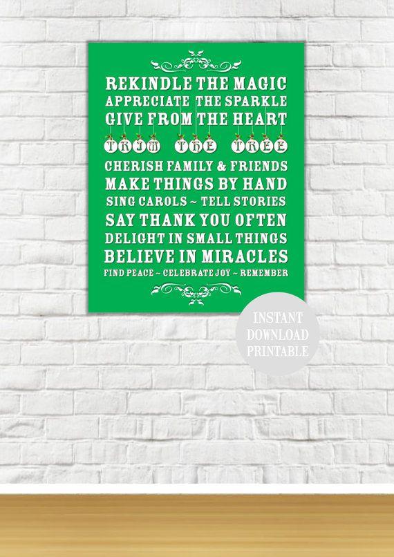 REKINDLE CHRISTMAS SUBWAY Printable Poster Wall by ColourMyRoom