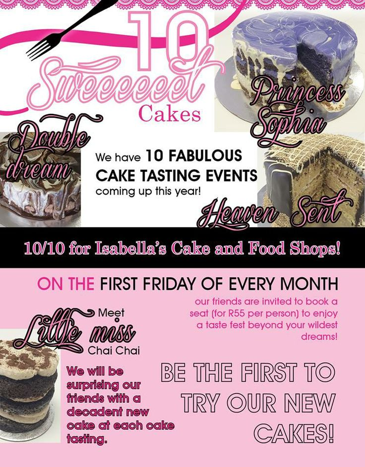 10/10 for Isabella's! Meet our #newcakes #love #sweetthing