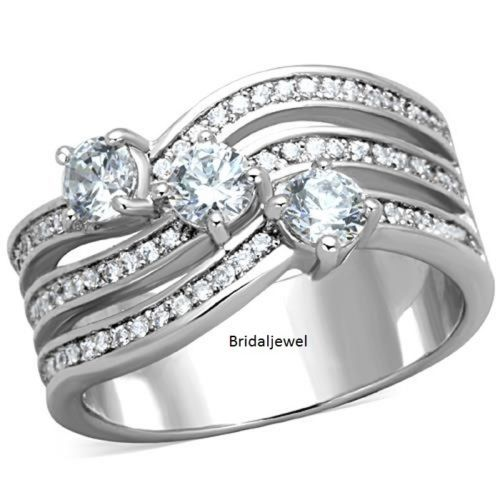 3-Stone-Solitaire-Promise-Engagement-2Ct-Round-Diamond-925-Sterling-Silver-Ring