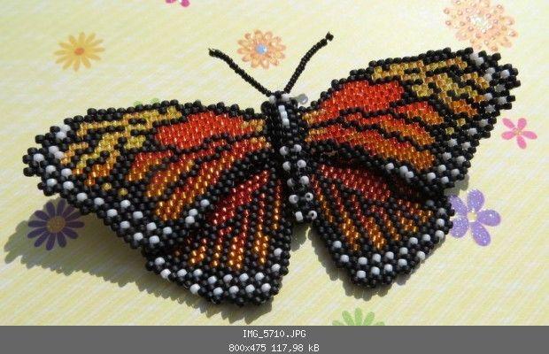Monarchfalter (Brickstitch und Peyote) - Insekten, Krabbeltier, Reptilien, Amphibien - Perlentiere-Forum