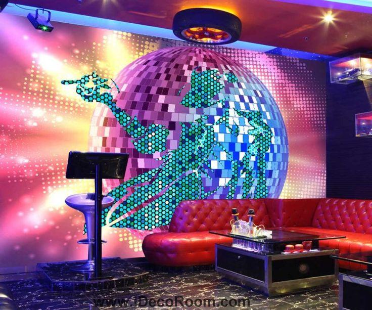 Graphic Design Shiny Disco Ball Art Wall Murals Wallpaper Decals Prints Decor IDCWP-JB-000681
