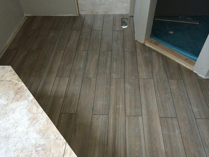 26 best Wood Tile images on Pinterest Wood tile floors Bathroom