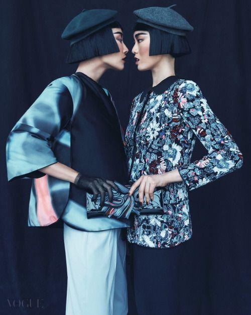 Hong Ji Soo & Hwang Gippeum for Vogue Korea August 2015. Photographed by Kim Young Joon