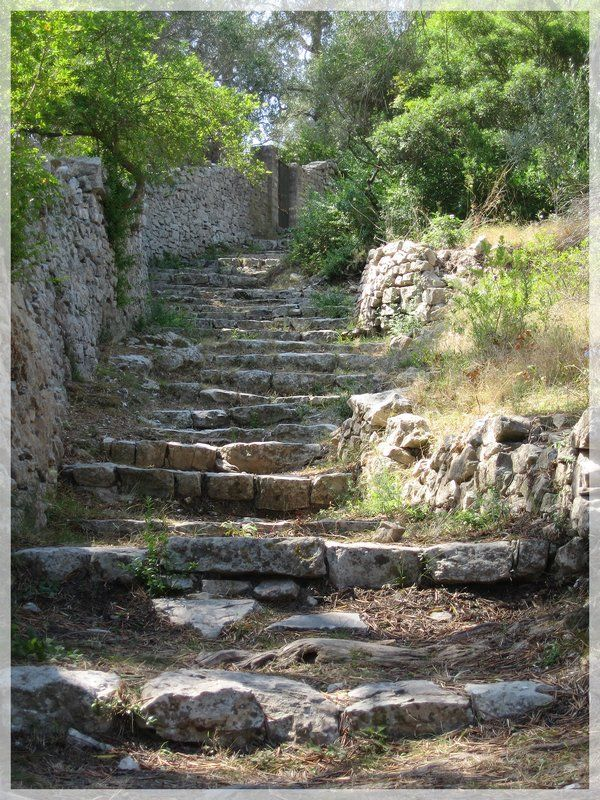 Old stairs in the small, wonderful and peaceful island of Paxos.