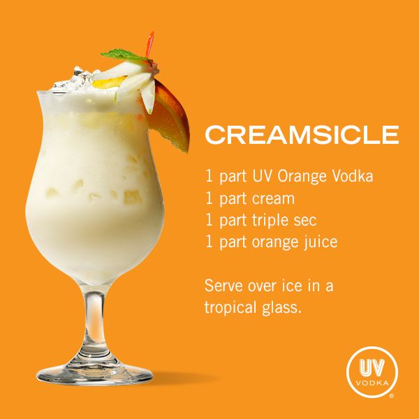 UV Vodka Recipe: Creamsicle yummmm