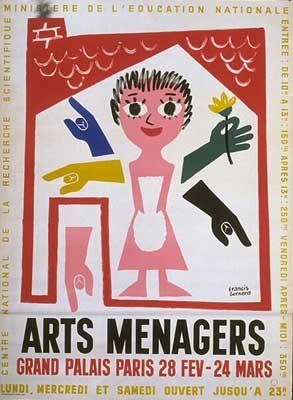 Les Arts Décoratifs - Site officiel - Salons des Arts ménagers - Affiche du XXVIe Salon des Arts Ménagers, 1957