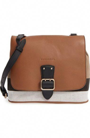 99526da633d3 Burberry  Small Shellwood  Canvas   Leather Crossbody Bag available at   Nordstrom  Burberryhandbags