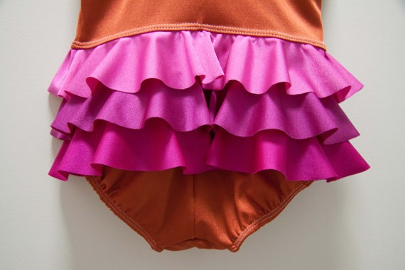 Frills all 'round swimsuit  SPF 50+ and chlorine resistant by Little Miss Mary