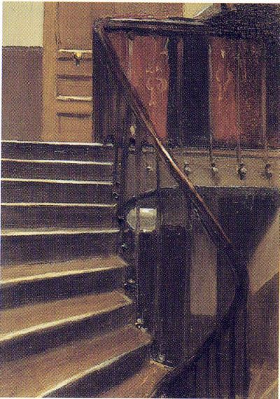 Stairway at 48 rue de Lille - Paris by Edward Hopper