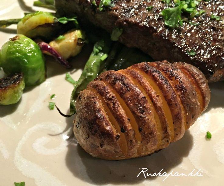 Ruokapankki: Hasselbackan perunat #ruokapankki #ruokablogi #potatoes #foodie #food #ruoka #foodblogger