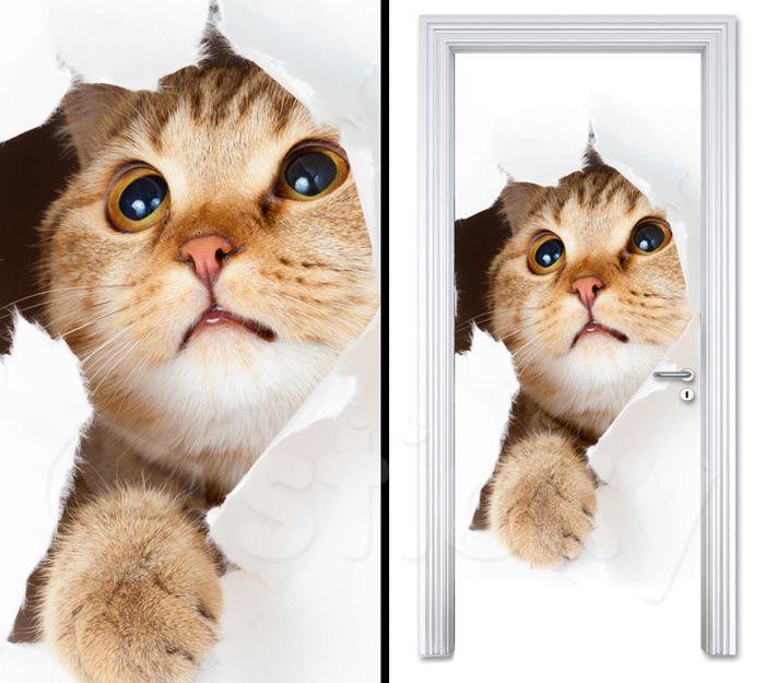 Door sticker LITTLE CAT by Sticky!!!